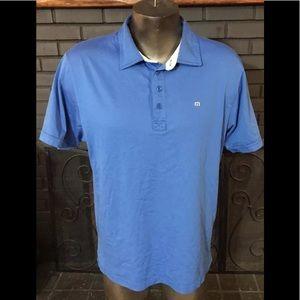 Travis Mathew Polo shirt blue Large